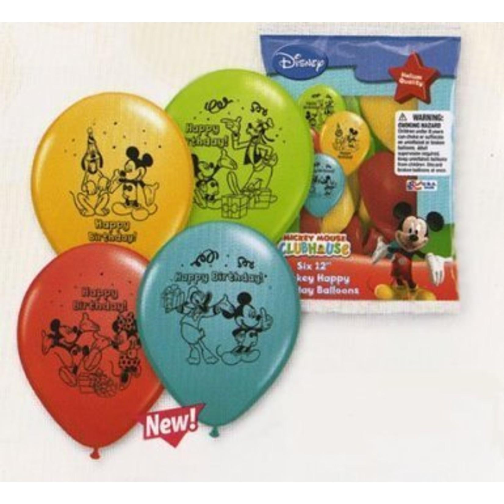 Balloon-Latex-Mickey Mouse-12''-6pk
