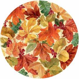 Plates-DN-Elegant Leaves-8pk-Paper