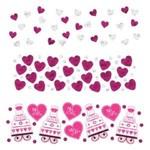 Confetti-Heart & Cake-Bright Pink-Foil&Paper-1.2oz