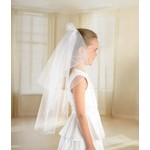 Childs Veil-double Layer Tulle-White