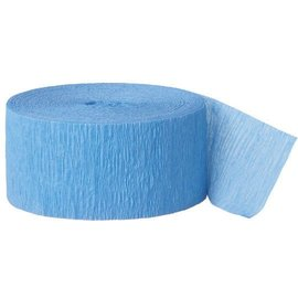 Paper Crepe Streamers - Jumbo - Caribbean Blue - 500ft x 1.75''