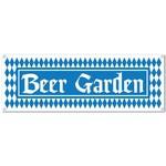 Sign Banner-Plastic-Oktoberfest Beer Garden-1pkg-5ft