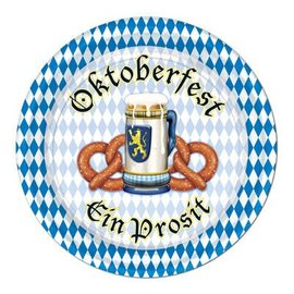 Beverage Paper Plates-Oktoberfest-8pkg