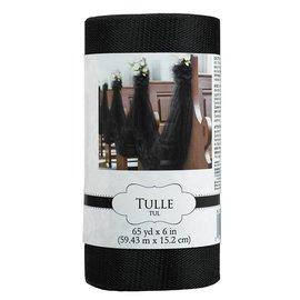 Tulle Spools-Black-6'' x 65''