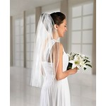 Bridal Veil - Single Layer Tulle - White