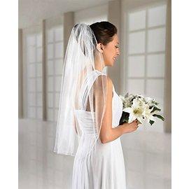 Bridal Veil-Single Layer Tulle-White