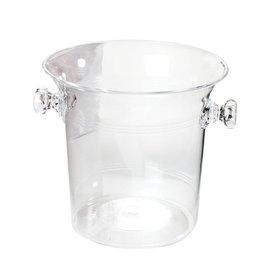 Ice Bucket-Clear-plastic-8''