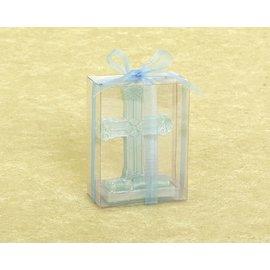 Candle-Religious Cross-Blue-1pc (Seasonal)