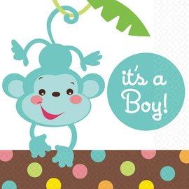 Napkins-BEV--Monkey Boy-16pk-2ply - Discontinued