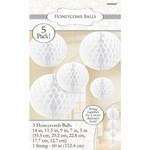 Danglers-Honeycomb Ball-White-5pk