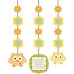 "Hanging Cutouts-Happi Tree Baby Shower-3pkg-36"""