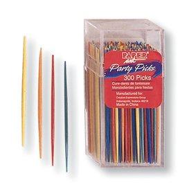 """Party Picks-Assorted Colors-300pkg-2.75""""-Plastic"""