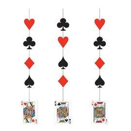 "Hanging Cutouts-Casino Card Night-3pkg-34.5"""