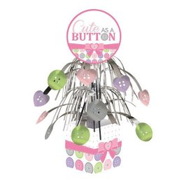 Centerpiece-Foil Cascade-Cute as a Button Girl-1pkg-12""