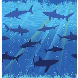 Tablecover-Rectangle-Shark Splash-Plastic