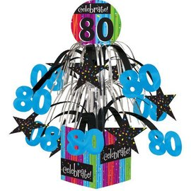 Centerpiece-Foil Cascade-Milestone Celebrations 80th-1pkg-8.5""