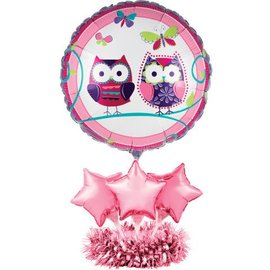 Centerpiece-Balloon-Owl Pal Birthday-1pkg-24""