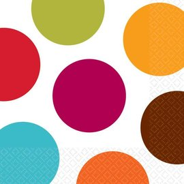 Napkins-BEV-Colorful Dots-16pkg-2ply (Discountinued/Final Sale)