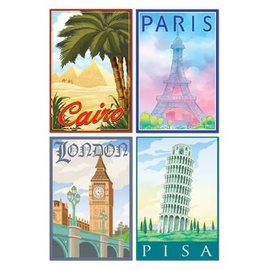 Cutouts-International Destinations-4pkg-16""