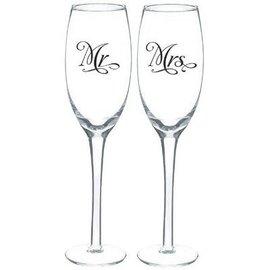 Toasting Glasses-Mr. & Mrs. Set-7.4oz-2pk
