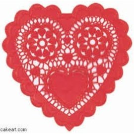 Doilies-Heart-Red-3.5''-28pk