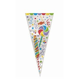 "Cone Gift Bags- Colorful Candy- 20pcs (15""x7"")"