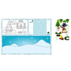 Activity Placemats with Stickers-Christmas-8pkg
