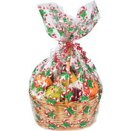 Basket Bag-Christmas Candy Cane-1pkg