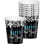 Cups-New Year-elegant-paper-9oz-8pk