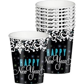 Cups-New Year-elegant-paper-9oz-8pk