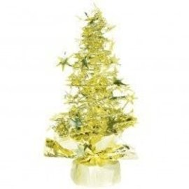 Centerpiece-Christmas-Gold Tree-8''