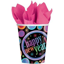 Cups -New Year-Modern-Paper-9oz-8pk