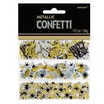 Confetti - Happy New Year - Black, Silver & Gold - 0.5oz