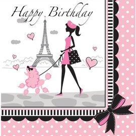 Napkins-LN-Party in Paris Birthday-18pkg-2ply