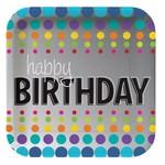 Plates - BV - Birthday Pop - 7'' - 8pkg - Mettalic Paper- Discontinued