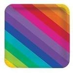 "Beverage Paper Plates - Rainbow - 8pk/7"" - Discontinued"