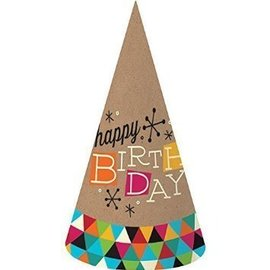 Hats-Birthday Kraft (8pk)