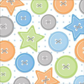 Beverage Napkins-Cute as a Button Boy-16pkg-3ply - Final Sale