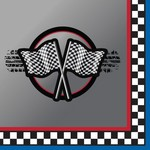 Napkins-BEV-Racing Flag-16pkg-3ply  - Discontinued