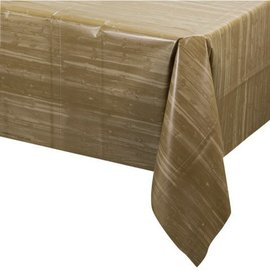 Tablecover-Rectangle-Ole Fogey Woodgrain-Plastic - Discontinued
