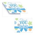 Thank You Cards-Cute as a Button Boy-8pkg