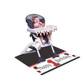 High Chair Kit-Plastic-Ladybug Fancy 1st Birthday-1pkg