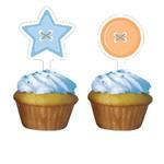 Cupcake Toppers-Cute as a Button Boy-12pkg