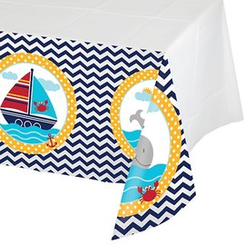 Tablecover-Rectangle-Ahoy Matey-54''x102''-Plastic - Discontinued