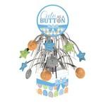 "Centerpiece-Foil Cascade-Cute as a Button Boy-1pkg-12"""