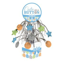 Centerpiece-Foil Cascade-Cute as a Button Boy-1pkg-12""