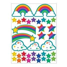Stickers-Glitter-Rainbow-2 Sheets