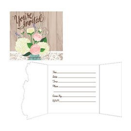 Invitations-Rustic Wedding-8pkg