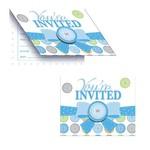 Invitations-Cute As A Button Boy-8pkg