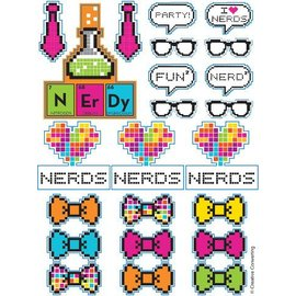 Stickers-Get Nerdy-4 Sheets